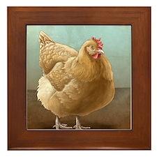 Buff Orpington Hen Framed Tile