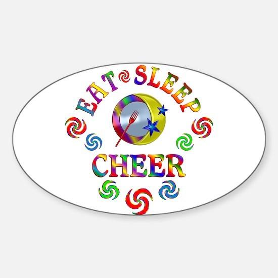 Eat Sleep Cheer Decal
