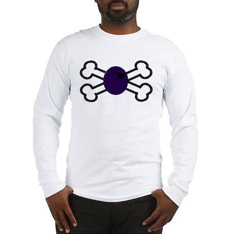 Grape and Crossbones Long Sleeve T-Shirt