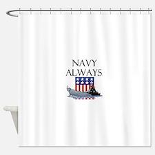 Navy Always Shower Curtain