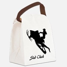 Sled Chick Canvas Lunch Bag