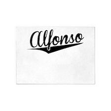 Alfonso, Retro, 5'x7'Area Rug