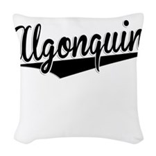 Algonquin, Retro, Woven Throw Pillow