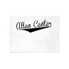 Allen Center, Retro, 5'x7'Area Rug