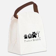 pawprints.jpg Canvas Lunch Bag