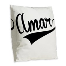 Amar, Retro, Burlap Throw Pillow