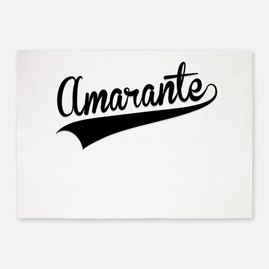 Amarante, Retro, 5'x7'Area Rug