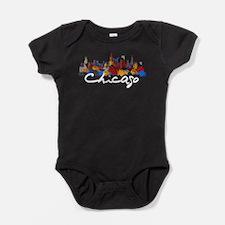 Chicago Illinois Skyline Baby Bodysuit