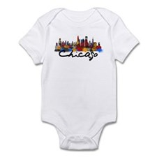 Chicago Illinois Skyline Infant Bodysuit