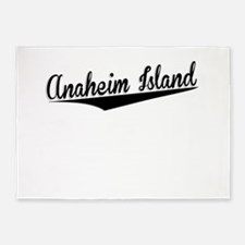 Anaheim Island, Retro, 5'x7'Area Rug