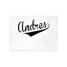 Andres, Retro, 5'x7'Area Rug
