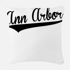 Ann Arbor, Retro, Woven Throw Pillow