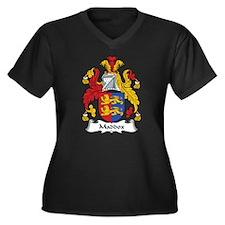 Maddox Women's Plus Size V-Neck Dark T-Shirt