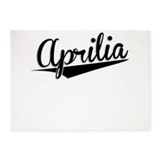 Aprilia, Retro, 5'x7'Area Rug