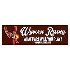 Wyvern Rising Bumper Bumper Sticker