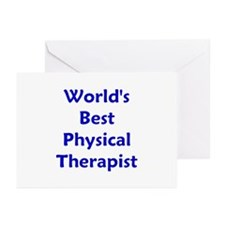 World's Best PT (blue) Greeting Cards (Package of