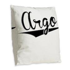 Argo, Retro, Burlap Throw Pillow