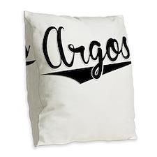 Argos, Retro, Burlap Throw Pillow