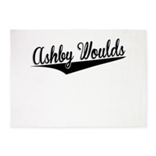 Ashby Woulds, Retro, 5'x7'Area Rug