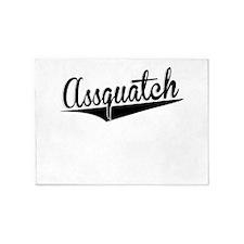 Assquatch, Retro, 5'x7'Area Rug