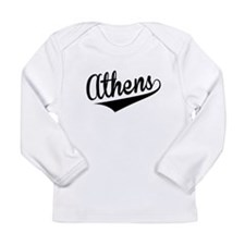 Athens, Retro, Long Sleeve T-Shirt