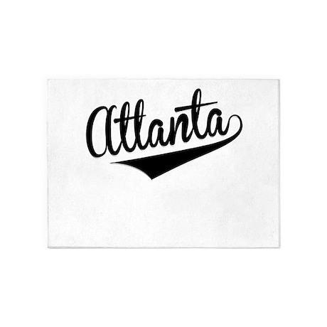 Atlanta, Retro, 5'x7'Area Rug