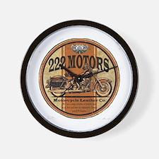 222 Motors Leather Store Wall Clock