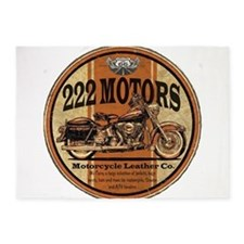 222 Motors Leather Store 5'x7'Area Rug