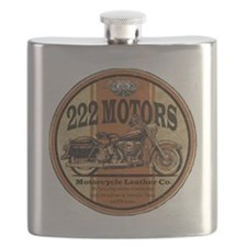 222 Motors Leather Store Flask