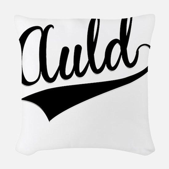 Auld, Retro, Woven Throw Pillow