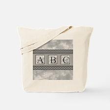 Personalizable Marble Monogram Tote Bag