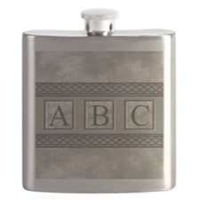 Personalizable Marble Monogram Flask