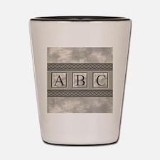 Personalizable Marble Monogram Shot Glass