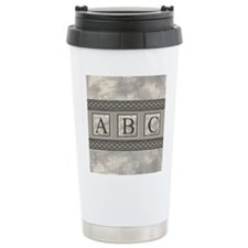 Personalizable Marble Monogram Travel Mug