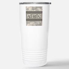 Personalizable Marble Monogram Travel Mug