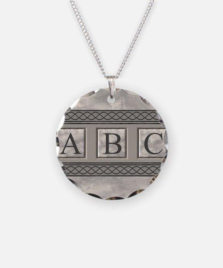 Personalizable Marble Monogram Necklace