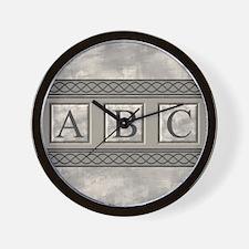 Personalizable Marble Monogram Wall Clock