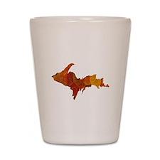 Autumn Leaves U.P. Shot Glass