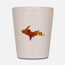 Autumn Leaves U.P. Shot Glass