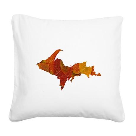 Autumn Leaves U.P. Square Canvas Pillow