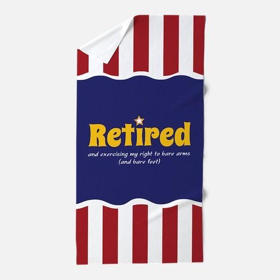 Happily Retired Beach Towel