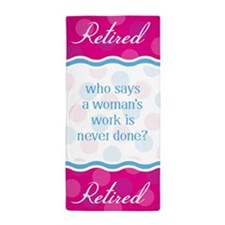 Retired Woman Beach Towel
