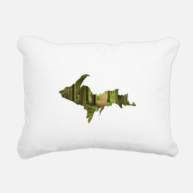 U.P. Forest Path Rectangular Canvas Pillow