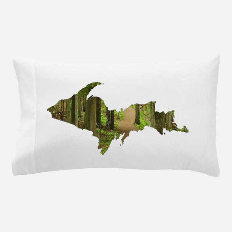 U.P. Forest Path Pillow Case