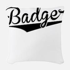 Badger, Retro, Woven Throw Pillow