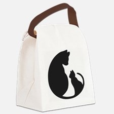 CAT WITH MOM Canvas Lunch Bag