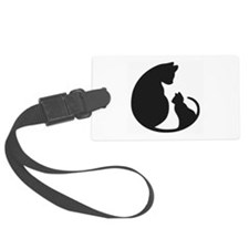 Cat With Mom Luggage Tag