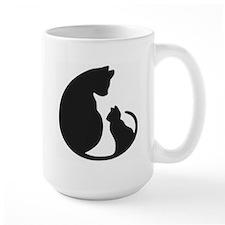 CAT WITH MOM Mugs