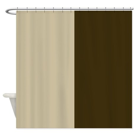 Chocolate Brown And Cream Shower Curtain By PatternedShop