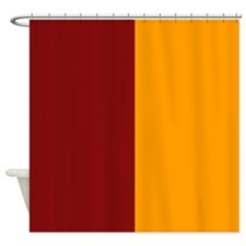 Scarlet Red and Orange Shower Curtain